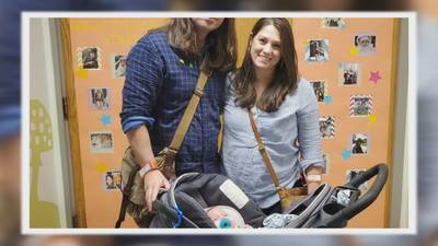 Baby of woman who was stabbed while walking on greenway goes home for first time
