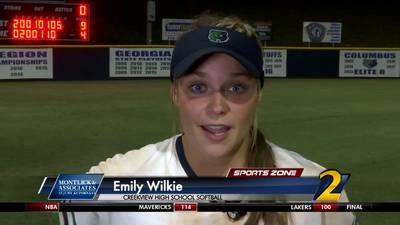 Creekview's Emily Wilkie: Montlick & Associates Athlete of the Week