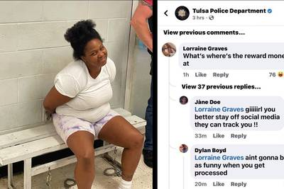 Woman wanted for role in killing nabbed after commenting on Tulsa PD post seeking her capture