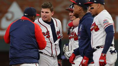 PHOTOS: Braves defeat Dodgers behind Riley walk-off