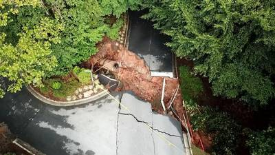 Flash floods and heavy rains of last week have washed away parts of roadways and created sinkholes