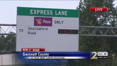 New record toll rate set on I-85 express lanes