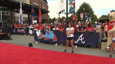 Hundreds help send Braves off to Houston as quest to win World Series begins