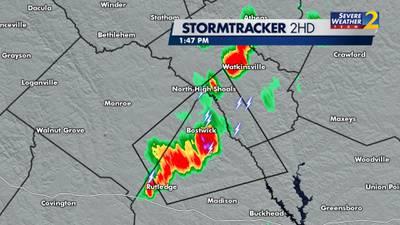Some severe thunderstorms popping up in metro Atlanta