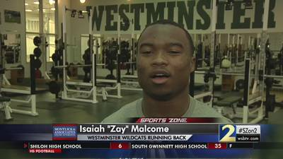 Westminster's Zay Malcome: Montlick & Associates Athlete of the Week