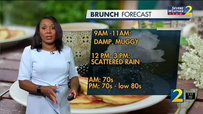 More rain, muggy conditions for Sunday morning
