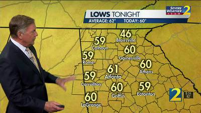 A clear, warm night ahead for your Monday