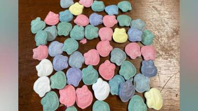 Bag of suspected ecstasy disguised as candy found during traffic stop