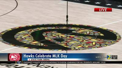 Atlanta Hawks debut new MLK jerseys, special court design