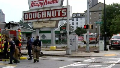 Neighbors wonder if someone planned second midtown Krispy Kreme fire