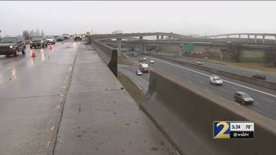 Section of concrete wall on Spaghetti Junction collapses after crash