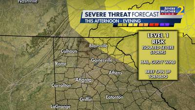 Rain, chance for storms in forecast for Monday