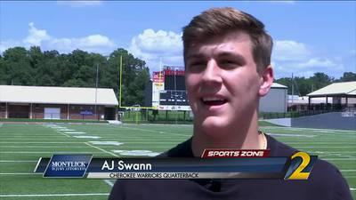 Cherokee's AJ Swann: Montlick Injury Attorneys Athlete of the Week