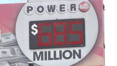 Could today be the day? Tonight's Powerball jackpot at $685 million