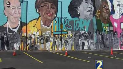 Local artists celebrate city's rich civil rights heritage with murals in Atlanta's West End