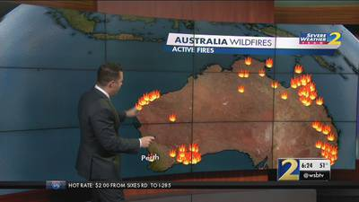 Australia wildfires: Comparing the flames to Atlanta landmarks