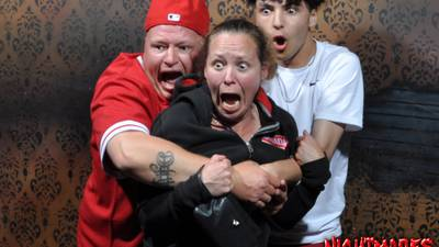 Hilarious haunted house reactions caught on camera