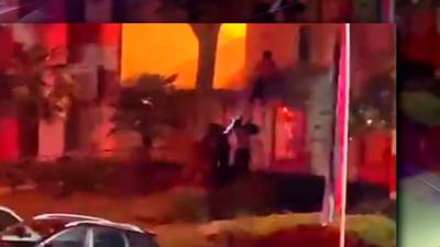 Video shows woman forced to jump from window during Gwinnett apartment fire