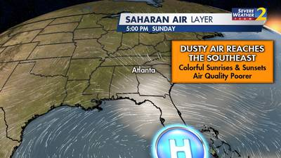 Get ready to see beautiful sunrises and sunsets this weekend thanks to Saharan dust