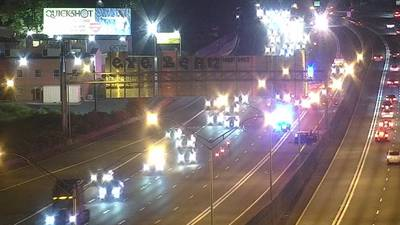 1 man dead after being hit by a car on I-85, police say