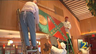 Amid controversy, OK Café removes decades-old state flag from restaurant