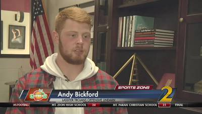 Lassiter's Andy Bickford: Georgia Lottery Scholar Athlete