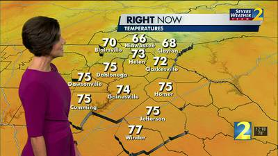 A clear, warm afternoon in store for your Monday