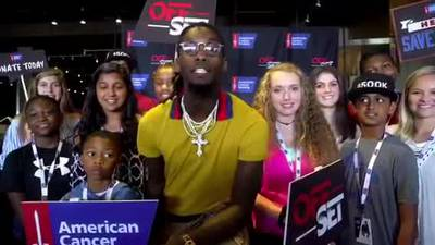 Rapper 'Offset' of Migos raising $500K for cancer in honor of grandmother