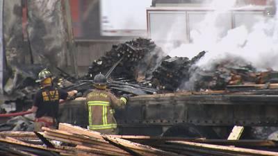 PHOTOS: Fiery chain reaction crash shuts down I-285