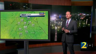 A look at how cool your morning will start tomorrow
