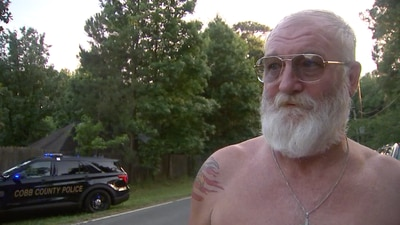 Neighbor speaks about moments he came face-to-face with Cobb County officer shooting suspect