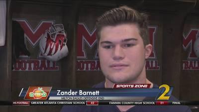 Milton's Zander Barnett: Georgia Lottery Scholar Athlete