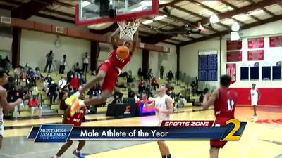 Who should be named the Montlick & Associates Male Athlete of the Year?
