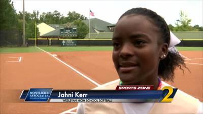 Wesleyan's Jahni Kerr: Montlick & Associates Athlete of the Week