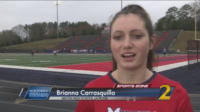Milton's Brianna Carrasquillo: Montlick & Associate Athlete of the Week