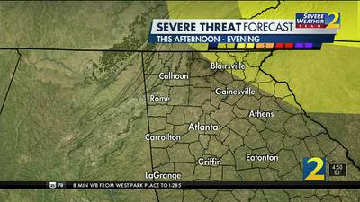 Chance for rain and storms Monday afternoon