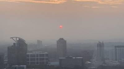Smoke from western wildfires creates haze over metro Atlanta