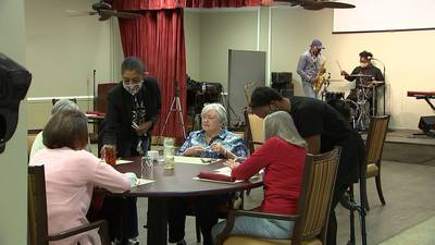 Senior living community says bye, bye to quarantine with special barbecue for residents, family