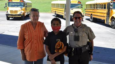 Fayette County 5th grader recognized for helping calm unruly school bus
