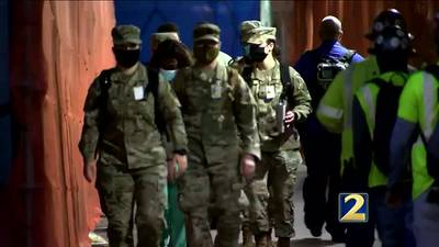 Georgia National Guard members deploy to help hospitals battle COVID-19