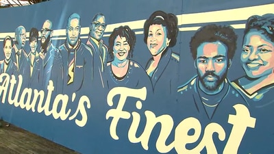 New mural in East Point celebrates 10 of 'Atlanta's Finest'