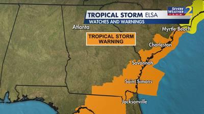 Tornado near Georgia naval base causes injuries as Tropical Storm Elsa hits coast