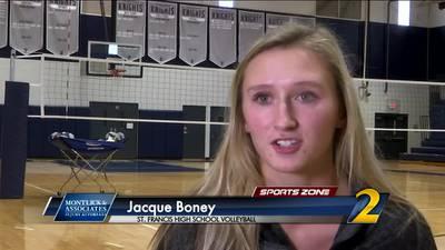 St. Francis' Jacque Boney: Montlick & Associates Athlete of the Week