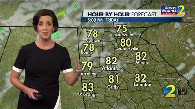 Partly cloudy and warm today ahead of cold front