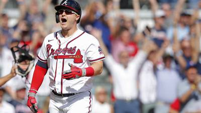 PHOTOS: Braves defeat Brewers in crucial Game 3 to take series lead