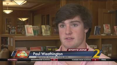 Westminster's Paul Weathington: Georgia Lottery Scholar Athlete